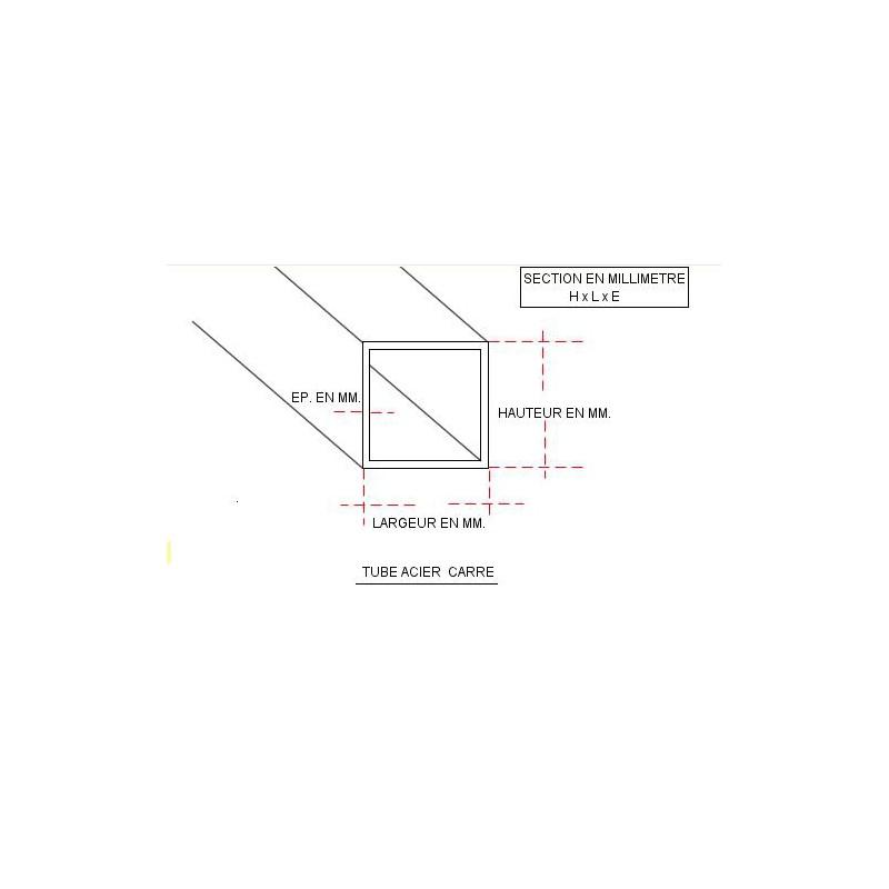 tube carre acier. Black Bedroom Furniture Sets. Home Design Ideas