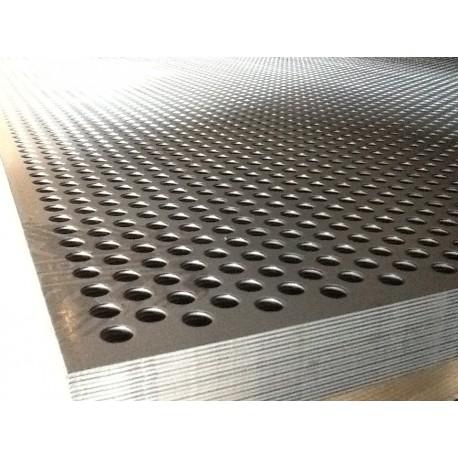 TOLE PERFOREE R10T15 1000X2000 EP 1.5 MM ACIER NOIR