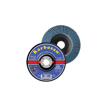 DISQUE LAMELLES ZIRCONIUM DIA. 125 GRAIN 80