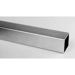 TUBE INOX CARRE 100 x 100 X 3 QUALITE DECO 304L