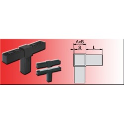 Connecteur à raccord en T pour tube carré 30x30x2