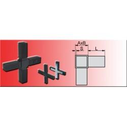 Connecteur en croix pour tube carré 30x30x2