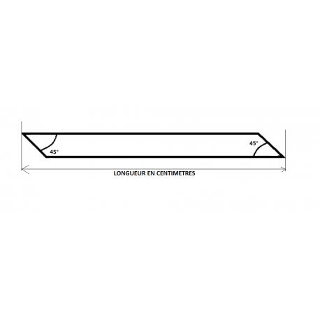 TUBE CARRE 60x60x2 - 2 COUPES BIAISES PARALLELES